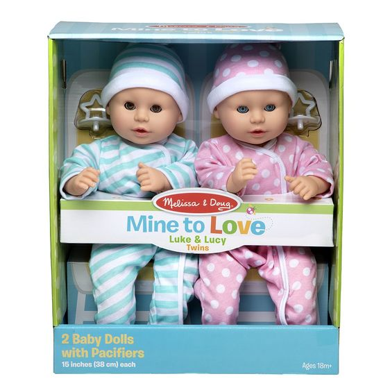 M&D Mine to Love Twins Luke & Lucy Dolls-