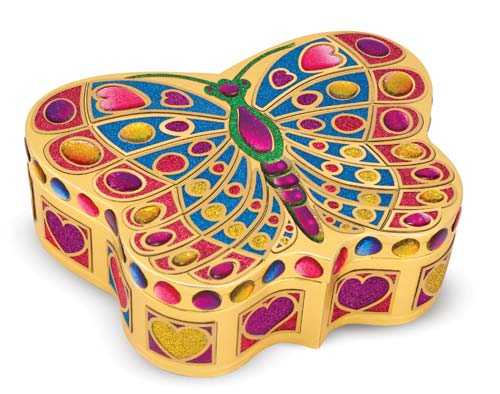 M&D Butterfly Treasure Box-