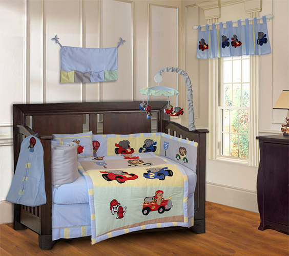 Animal Zoom 9pc Crib Bedding Set-crib, bedding