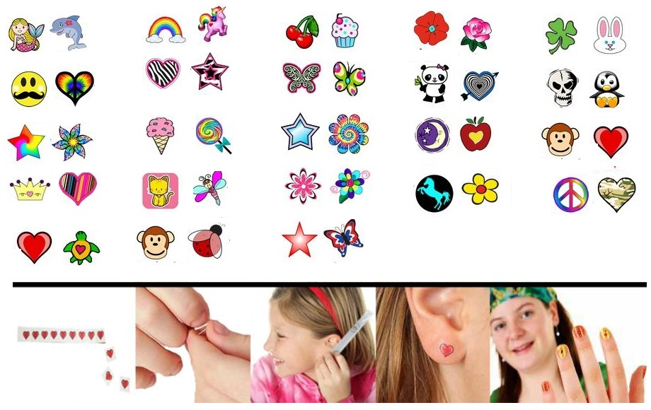bink'd Temporary Tattoo Earring Designs-