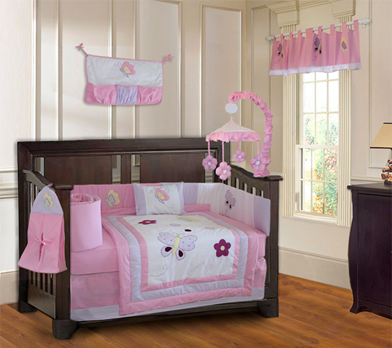 Butterfly Dreams crib bedding set-