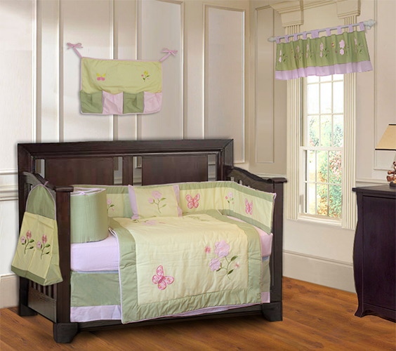 Daisy Butterfly crib set-