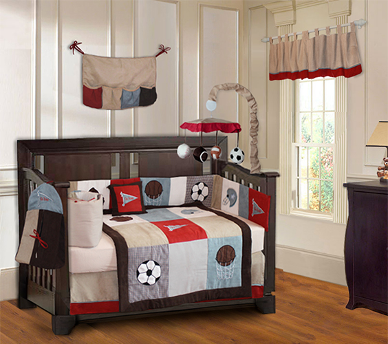 Go Team crib bedding set-