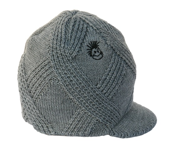 Born to Love Beanie Grey Detail-