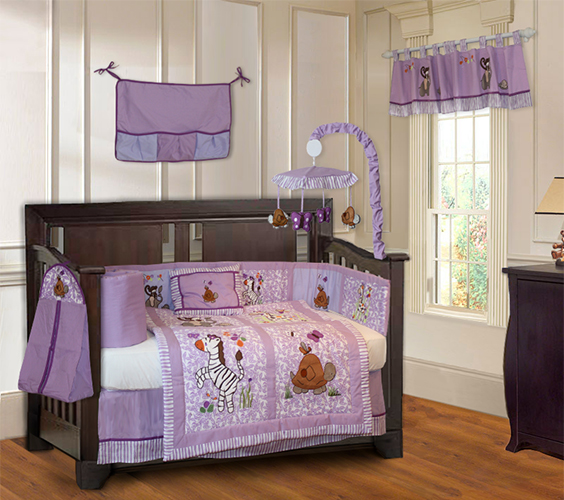 Jungle Girl Crib Bedding Set-crib bedding