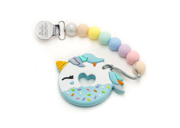 Blue Unicorn teether & holder-