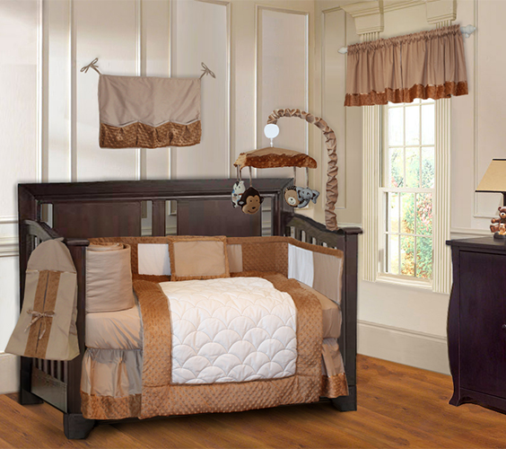 Brown Minky Crib Bedding Set-crib bedding