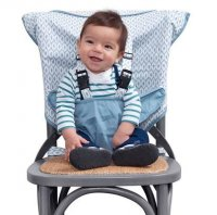 Travel Seat Mint Marshmallow-booster seat, travel