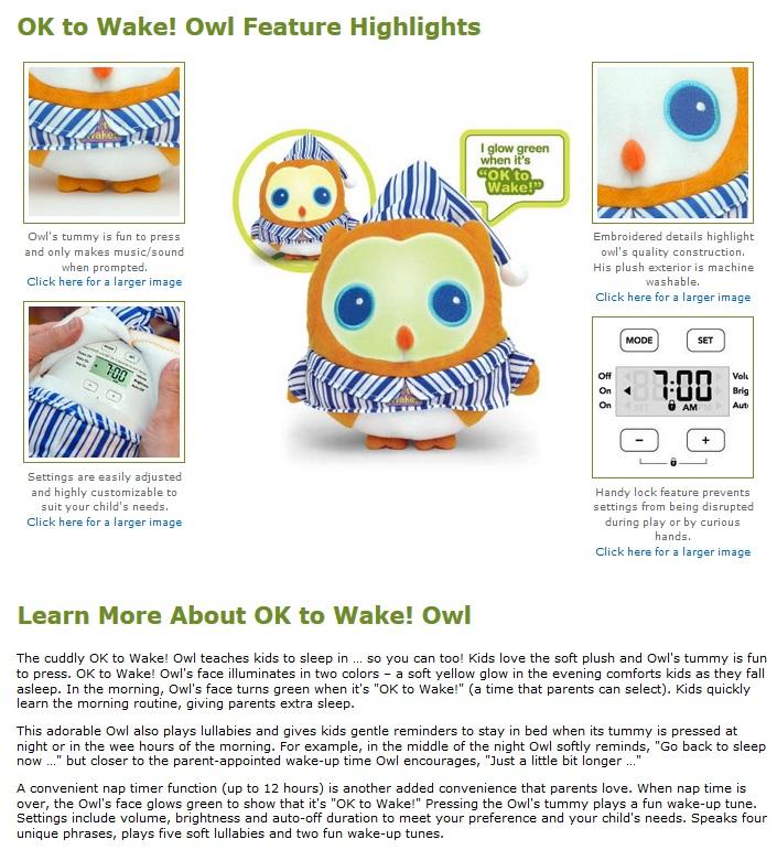 OK to Wake!® Owl-