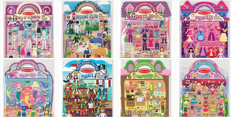 M&D Puffy Sticker Play Sets-
