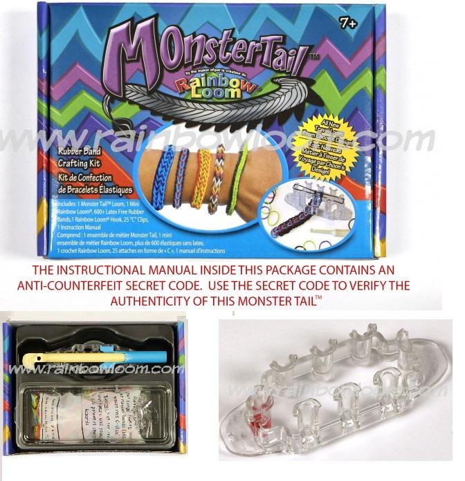 Monster Tail™  by Rainbow Loom-rainbow loom, monster tail, bracelet