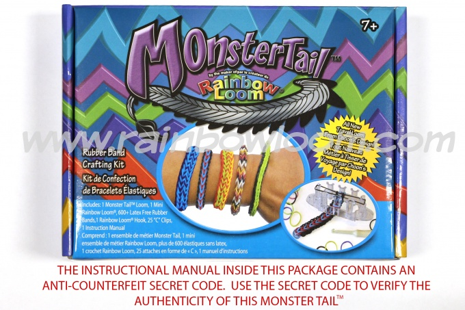 Monster Tail™  by Rainbow Loom-rainbow loom, monster tail, bracelet