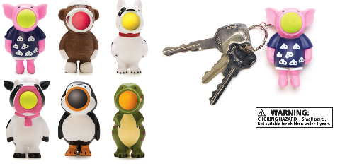 Squeeze Popper Key Chain-