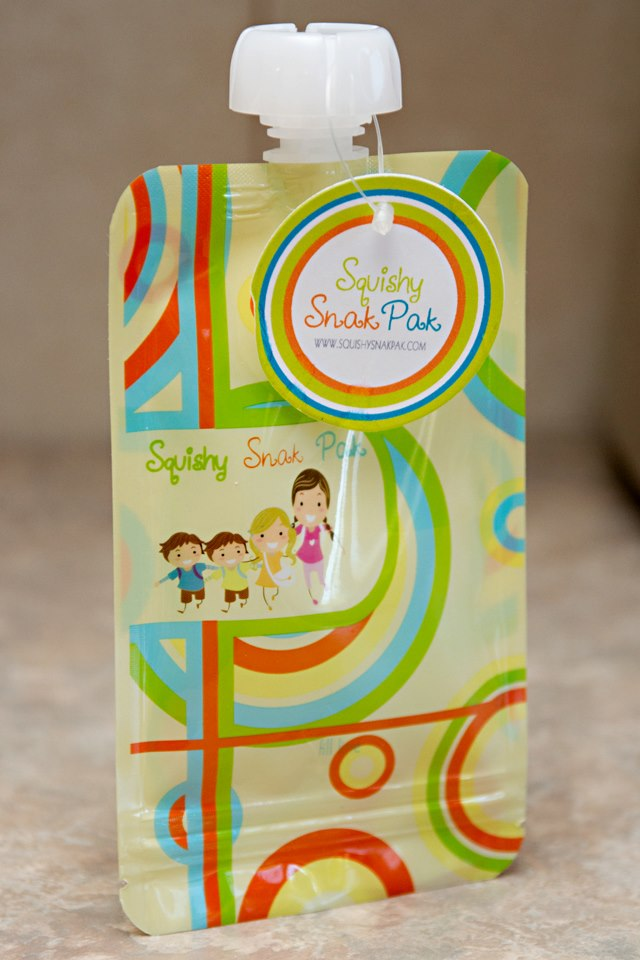 Squishy Snak Pak-reusable food pouch, store baby food